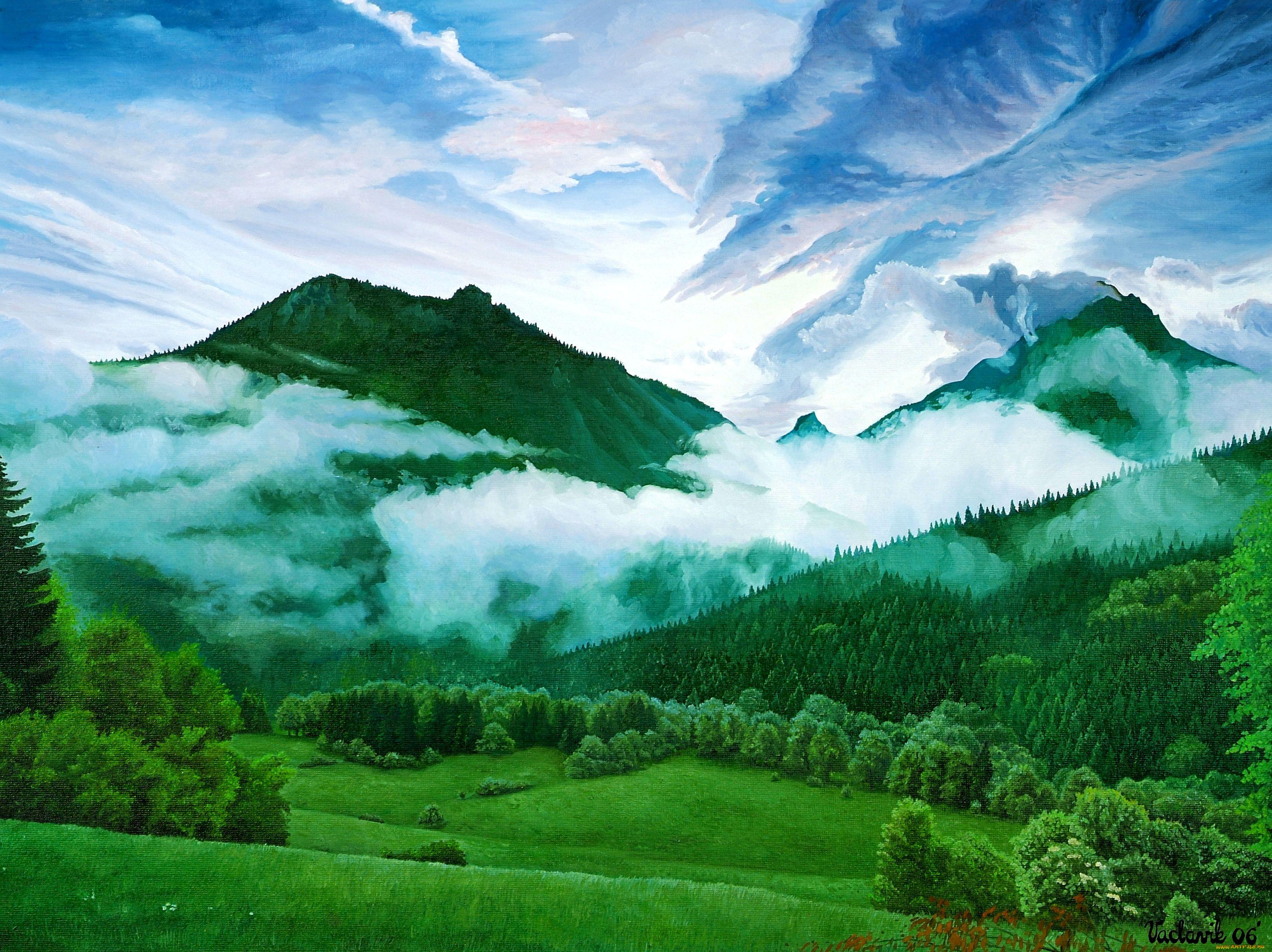 рисуем горы фото рождения еще